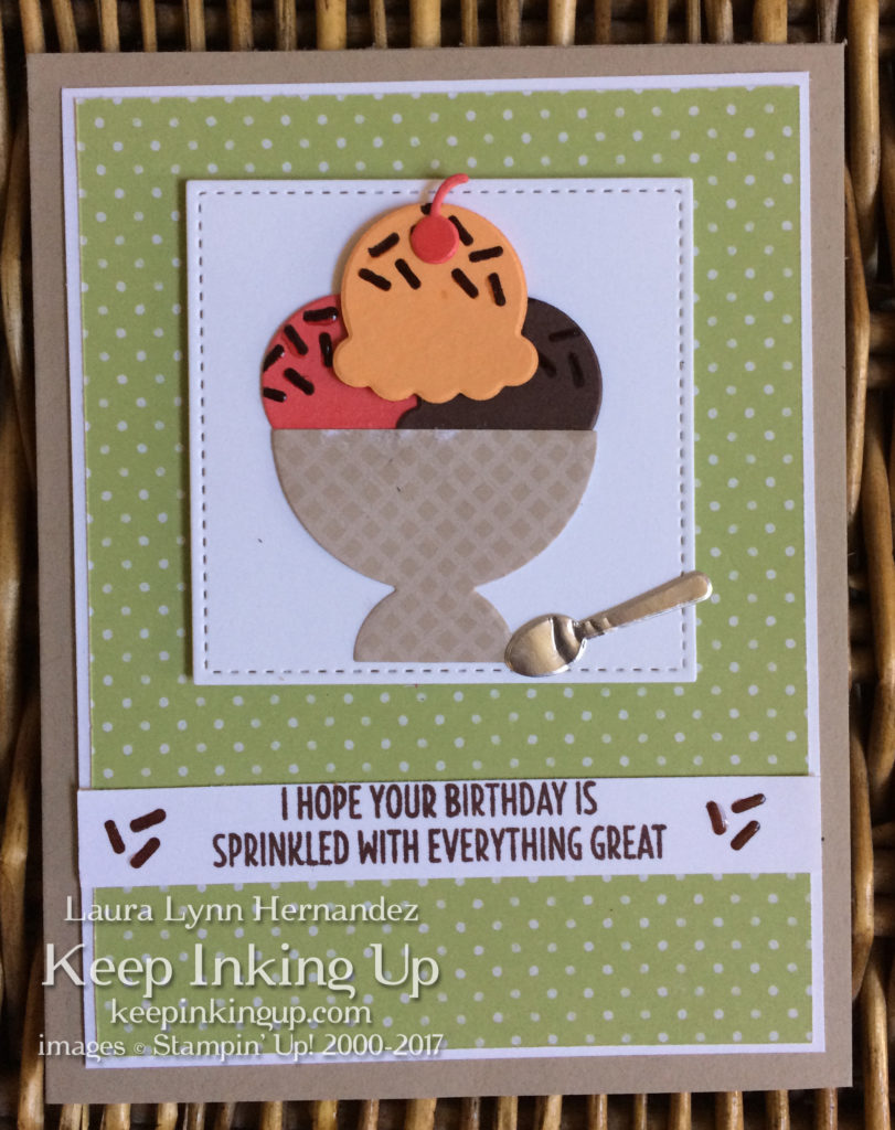 Sprinkled Birthday card by Keep Inking Up