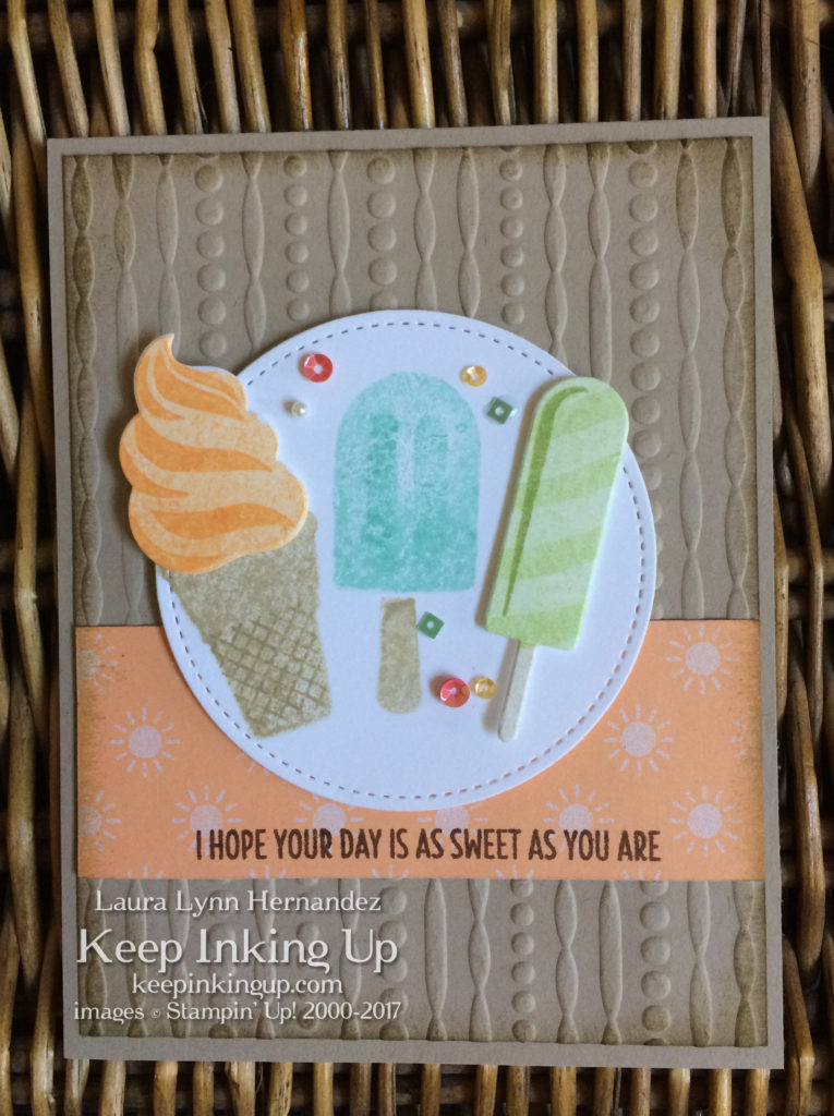 I hope your day is as sweet as you are card by Keep Inking Up