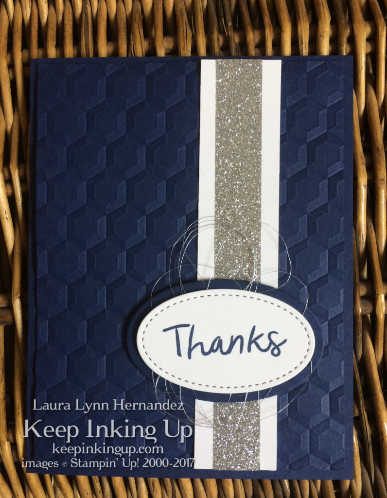 Masculine thank you card by Keep Inking Up