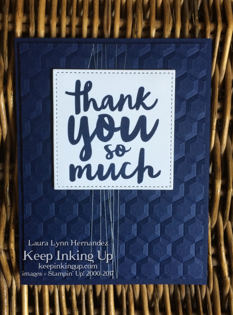 Thoughtful Thanks thank you card by Keep Inking Up