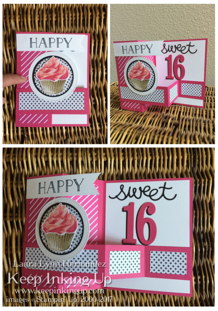 Sweet 16 fun fold card by Keep Inking Up