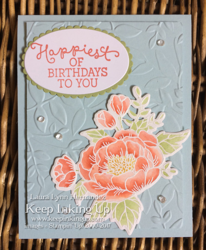Birthday card by Keep Inking Up with watercolored flower