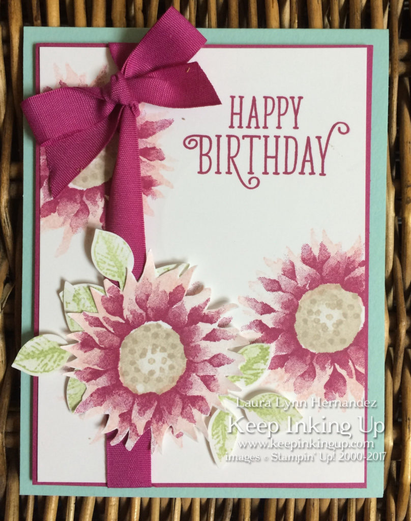 Pink Painted Harvest birthday card by Keep Inking Up