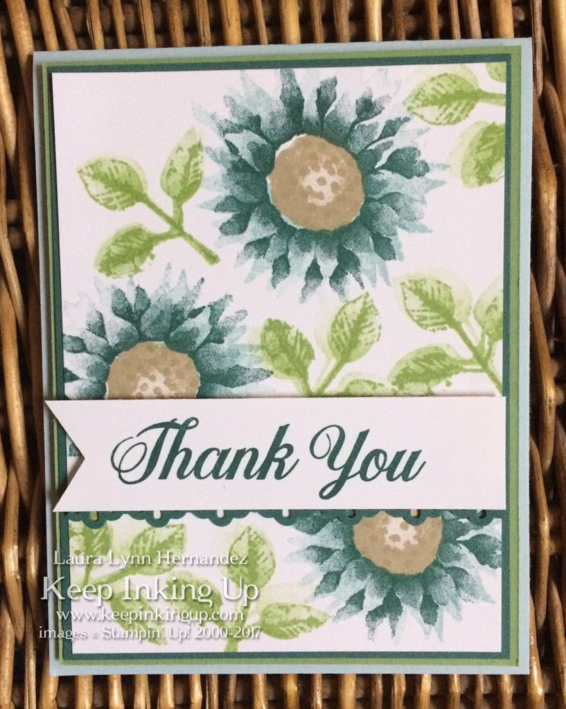 Blue Painted Harvest thank you card by Keep Inking Up