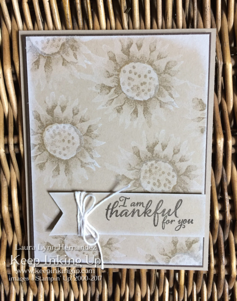 Monochromatic Painted Harvest thank you card by Keep Inking Up