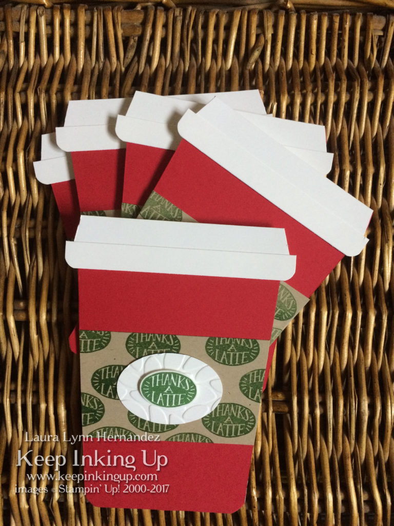 custom coffee cup shaped cards by Keep Inking Up