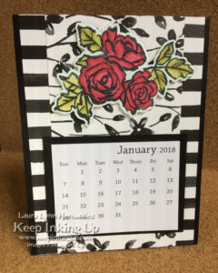 Red roses calendar by Keep Inking Up