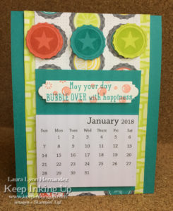 Bottle Cap Calendar by Keep Inking Up