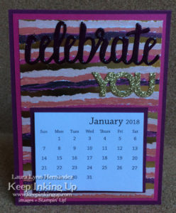Gold Celebrate YOU calendar by Keep Inking Up