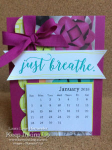 Just Breathe calendar by Keep Inking Up