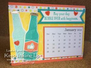 Landscape orientation calendar by Keep Inking Up