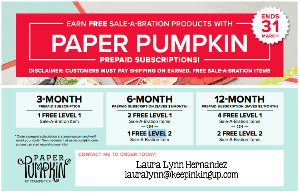 Prepaid Paper Pumpkin during Sale-a-bration