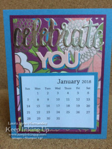 Silver Celebrate YOU calendar by Keep Inking Up