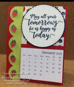 Strawberry calendar by Keep Inking Up
